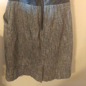 bebe Dresses - Bebe Leather Bustier Corset Wool Tweed Dress 8